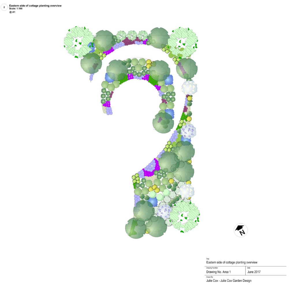 Eastern planting scheme overview design