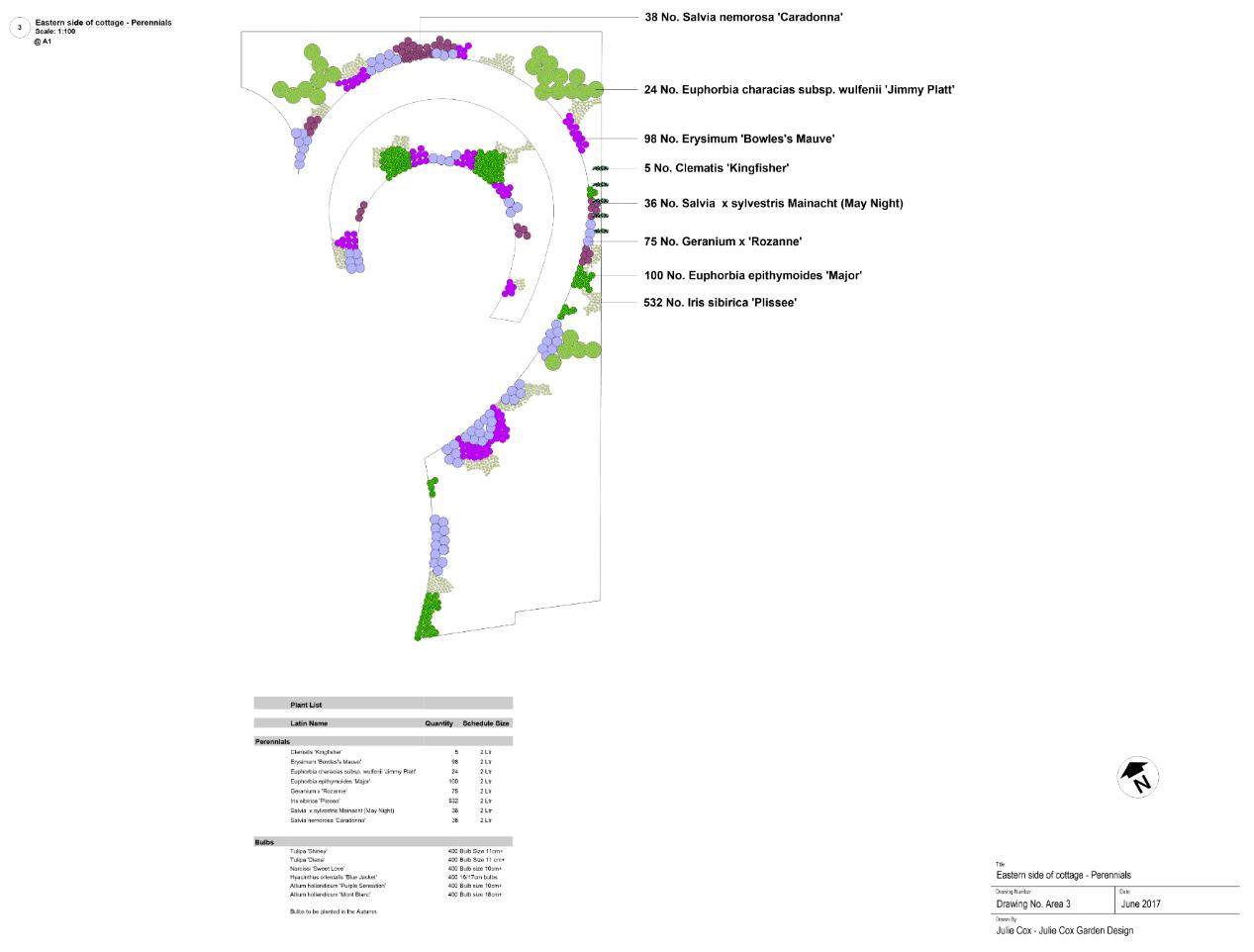 Perennial planting scheme design