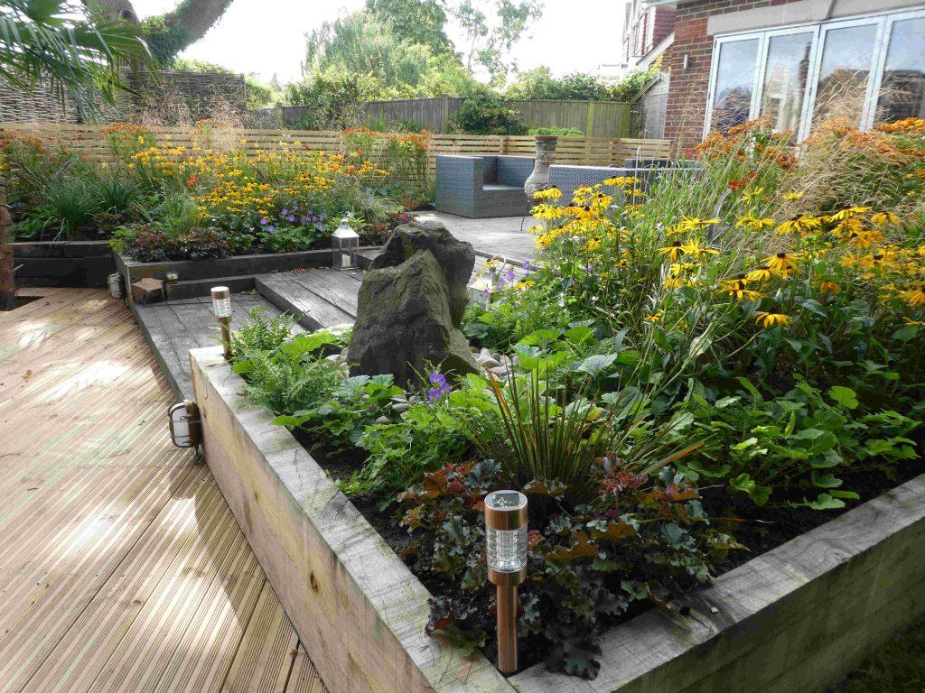 Decking & Plants