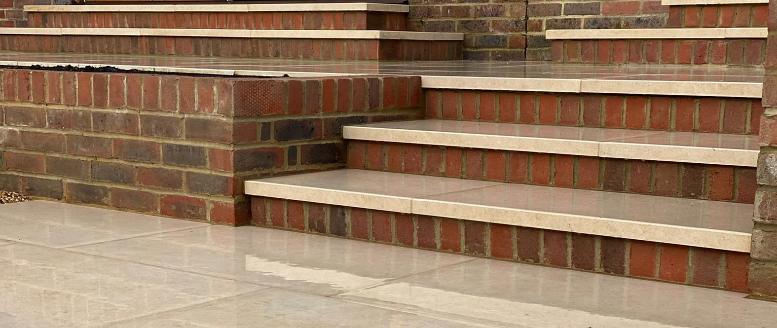 London Stone porcelain step detail